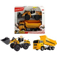 Dickie Toys constructievoertuigen Construction Twin Pack