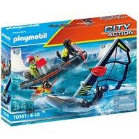 PLAYMOBIL City Action 70141 Redding op zee: poolzeiler met rubberen sleepboot